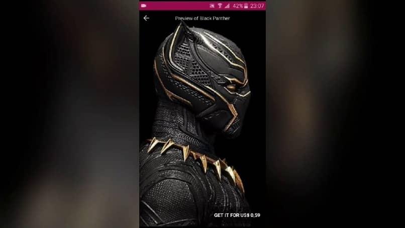fondo de pantalla de pantera negra