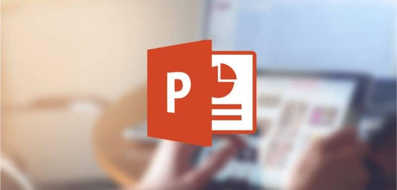 Fondo del logo de la tableta de Power Point