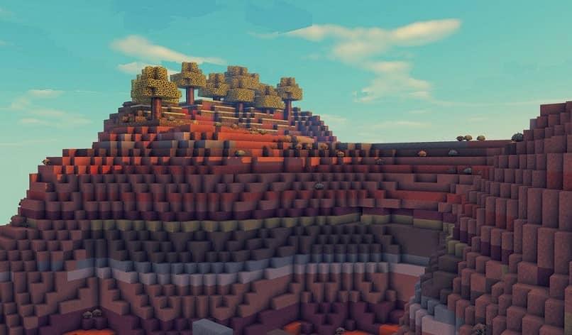 puesta de sol en minecraft