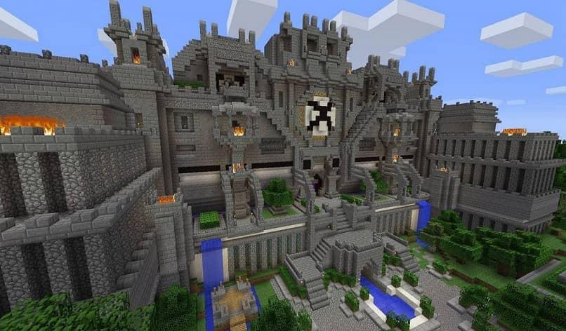 un castillo de minecraft