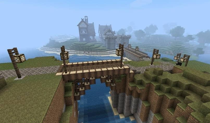 puente en minecraft a un castillo