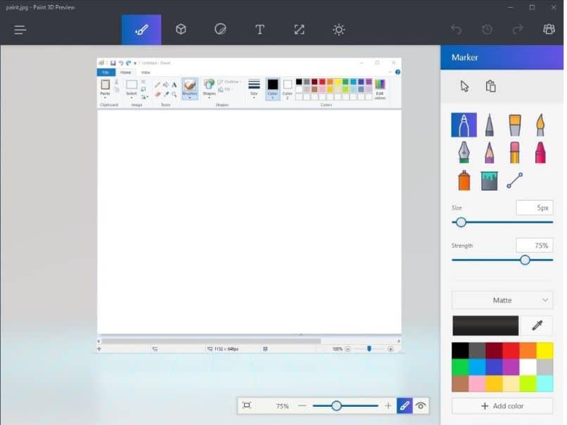 programa editor de pincel lápiz