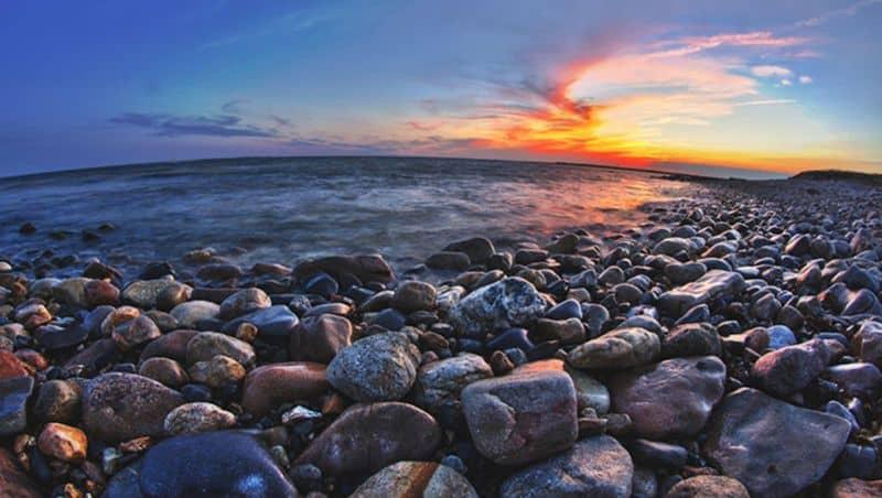 HDR en el paisaje de la playa