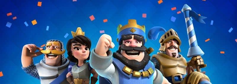 diferentes personajes de clash royale