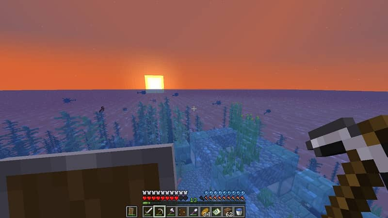 Encuentra océanos y templos en Minecraft