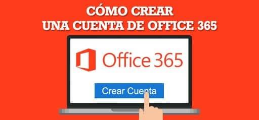 Microsoft Office 365 sobre un fondo rojo portátil