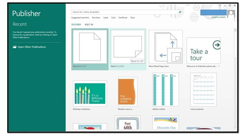 Plantillas de Microsoft Publisher