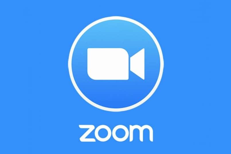 logotipo de zoom azul