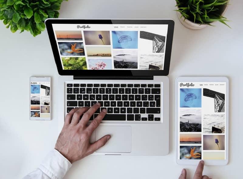 Crea un portafolio de blogger