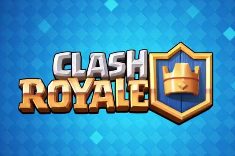 Clash royale logo fondo azul