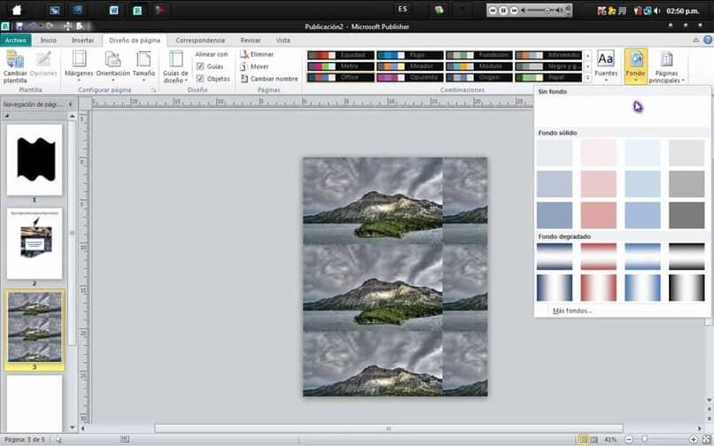 editor unido tres imágenes