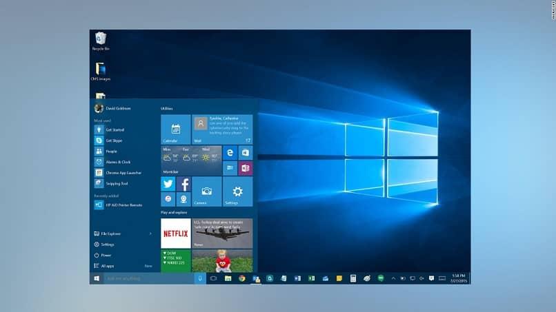 ocultar información personal en la pantalla de inicio de Windows 10