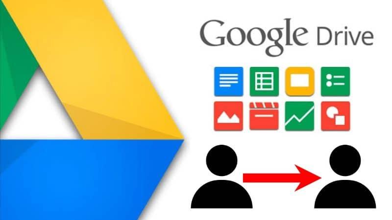 Diferentes archivos del fondo blanco de Google Drive